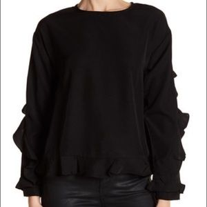 Lucca Couture Serena Ruffle Shirt